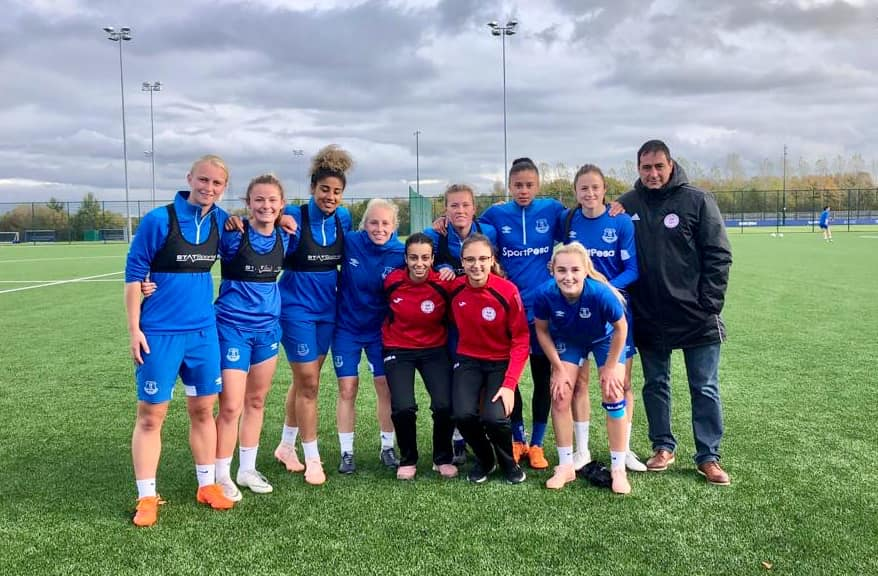 Viagas And Robba Training With Everton Ladies Football Gibraltar